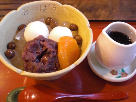 手作りあんみつを楽しめる京都の甘味処