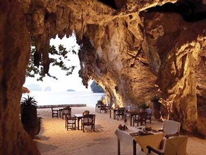 Under an ancient limestone cliff on the edge