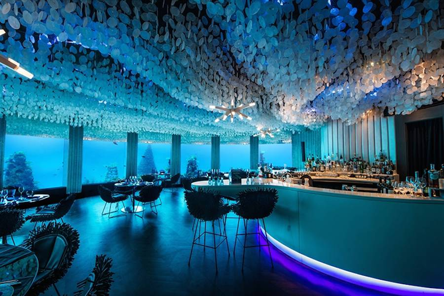 Glamorous Underwater Restaurant in the Maldives